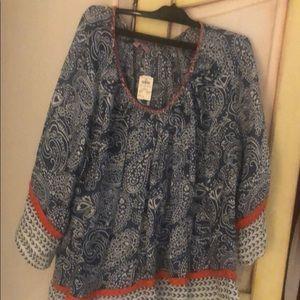 Calypso summer linen tunic- with ticket